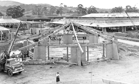 Foothill College under construction in 1961